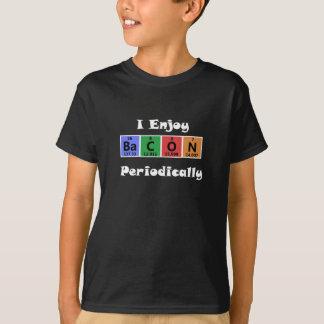Camiseta Química de la ciencia del tocino de la tabla