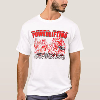 Camiseta rabia del metal powerlifting