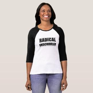 Camiseta radical del raglán de Unschooler