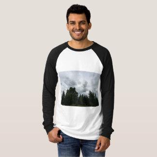 Camiseta Raglán al aire libre sereno de las opiniónes