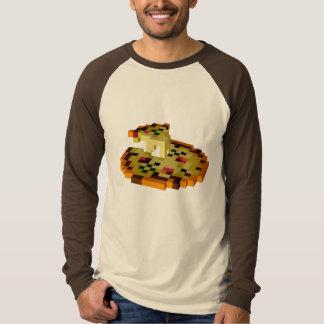 Camiseta Raglán largo de la manga de la pizza