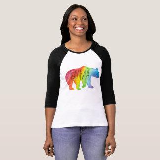 Camiseta Raglán para mujer de mamá Bear Watercolor Family