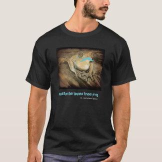 Camiseta Ranas divertidas retras del bigote de la turquesa