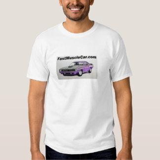 Camiseta rápida del coche del músculo