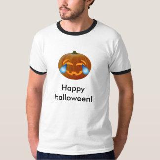 Camiseta Rasgones del emoji de la calabaza del feliz