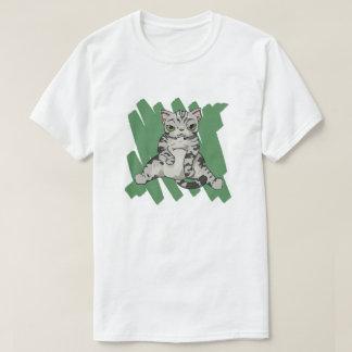 Camiseta Rasguño de gato de Shorthair del americano