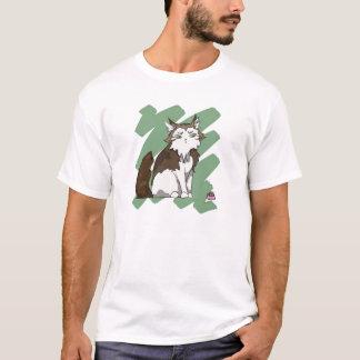 Camiseta Rasguño de gato noruego del bosque