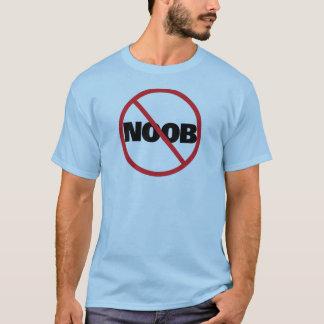Camiseta Raya vertical del círculo de NOOB (negro)