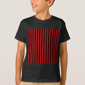Camiseta Rayas finas - negro y Rosso Corsa