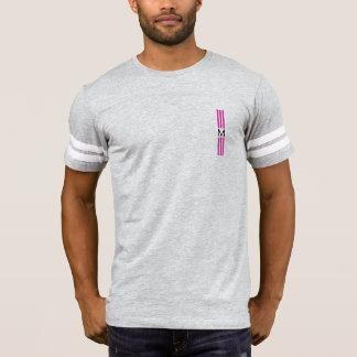 Camiseta Rayas modernas de la congelación del monograma