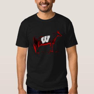 Camiseta real de la vaca de Wisconsin