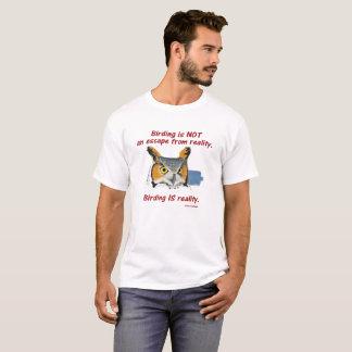 Camiseta Realidad T - gran búho de cuernos de Birding