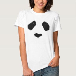 Camiseta realista de la cara de la panda