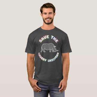 Camiseta rechoncha divertida del unicornio