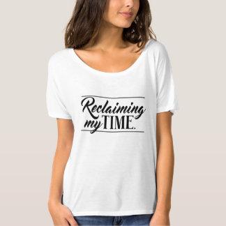 """Camiseta """"Reclamando mi tiempo"""" político"""