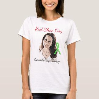 Camiseta Recordar a Chrissy para el día rojo del zapato
