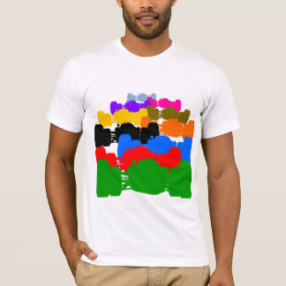 Camiseta Recortes psicodélicos múltiples del coche de