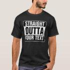Camiseta RECTA de encargo de OUTTA - añada su