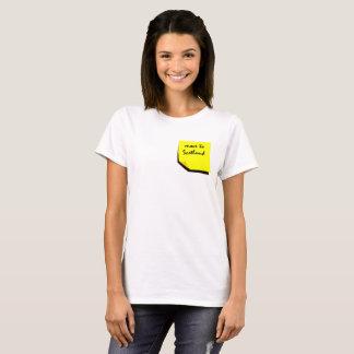 Camiseta Recuerde: ¡Muévase a Escocia!
