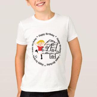 Camiseta redonda de la meta del fútbol del 4to