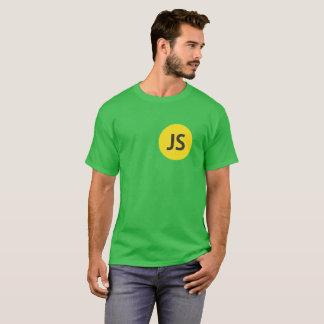 Camiseta redonda del verde del cuello con el