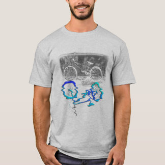 Camiseta Reflexión coloreada deporte de la bici de BMX