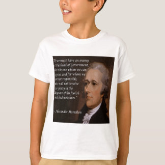 """Camiseta Regalo del """"líder enemigo"""" de Alexander Hamilton"""
