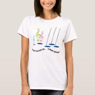 Camiseta Regalo divertido del jugador de flauta