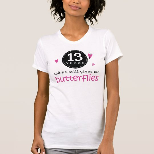Camiseta Regalo para la décimotercero mariposa del