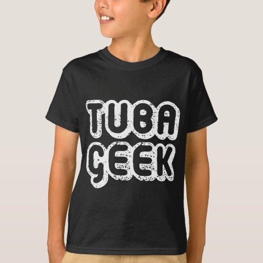 Camiseta Regalo retro de la música del friki de la tuba