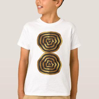 Camiseta regalos de oro de la VAINA de la onda de los