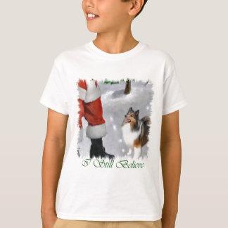 Camiseta Regalos del navidad de Sheltie del perro pastor de