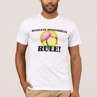 Camiseta ¡Regla de los SPOONBILLS ROSADOS!