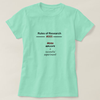 Camiseta Reglas 005 de la investigación