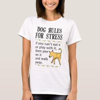 Camiseta Reglas del perro para la tensión
