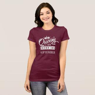 Camiseta Reina de inglaterra are born en el septiembre