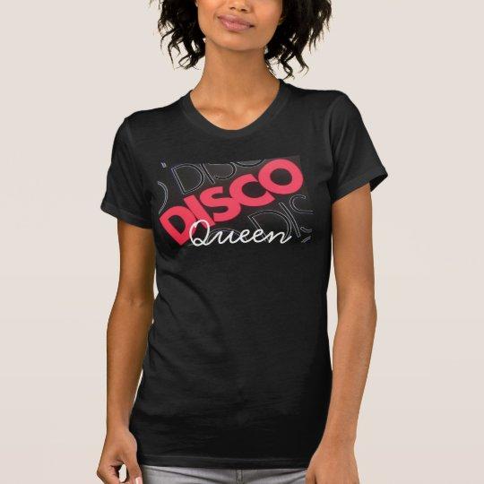 Camiseta Reina del disco de la manía del Hippie linda