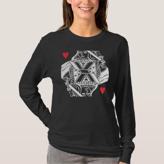 Camiseta Reina del gráfico de vector de los corazones