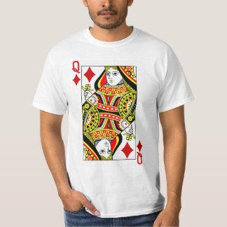 Camiseta Reina del naipe de los diamantes