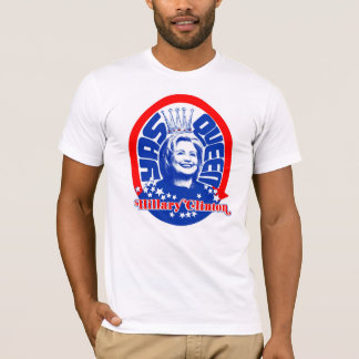 Camiseta ¡Reina roja, blanca, y de Yass Hillary!