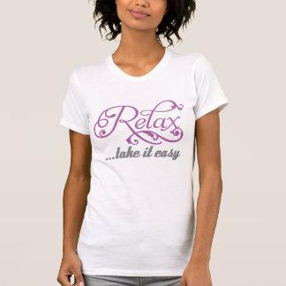 Camiseta Relájese le toman chicas florales fáciles de los