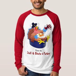Camiseta Rellene y rocíe una Turquía (el vino)