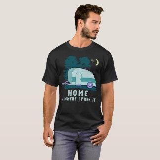 Camiseta Remolque casero de la lágrima que acampa