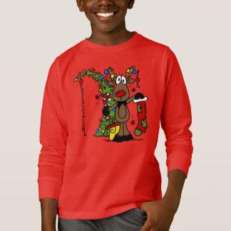 Camiseta Reno de las Felices Navidad