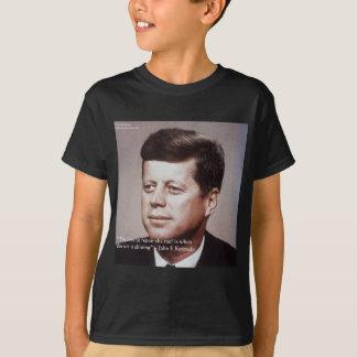 Camiseta Reparación de JFK la cita famosa del tejado