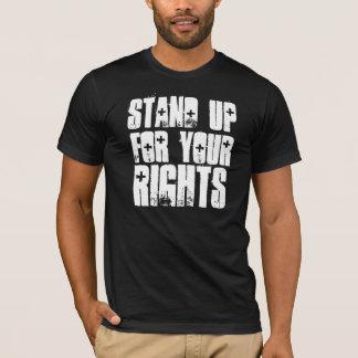 Camiseta Represente para arriba su negro de las derechas