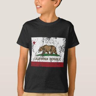 Camiseta república de la bandera de California apenada