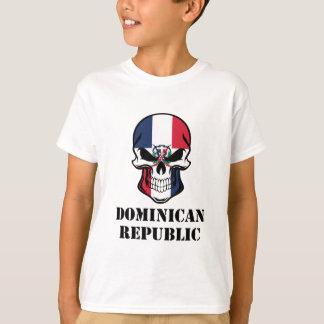 Camiseta República Dominicana del cráneo dominicano de la