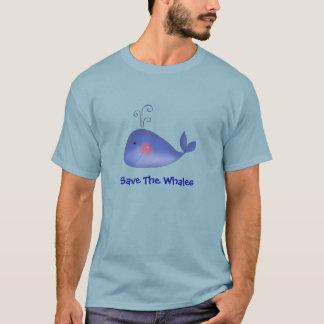 Camiseta Reserva linda del dibujo animado de la ballena