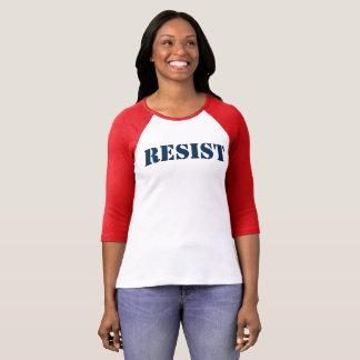 Camiseta resista el rojo anti de la marcha de las mujeres